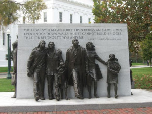 Civil Rights Memorial Justice Thurgood Marshall Quote