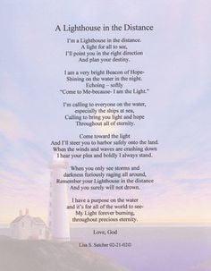 ... Poems ... Inspirational Christian Poetry - Poems - A Lighthouse In The