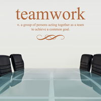 Teamwork Defined - Quote - Wall Decals