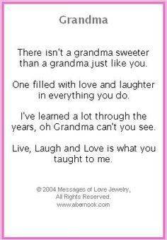 grandma poems | Grandmother Bracelet, Grandma Poem Jewelry More
