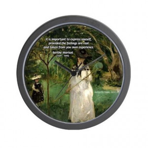 Gifts > Living Room > Berthe Morisot Art Quote Wall Clock