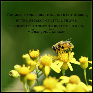 The most dangerous thing is that the soul, by the neglect of little ...