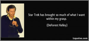 Star Trek has brought so much of what I want within my grasp ...