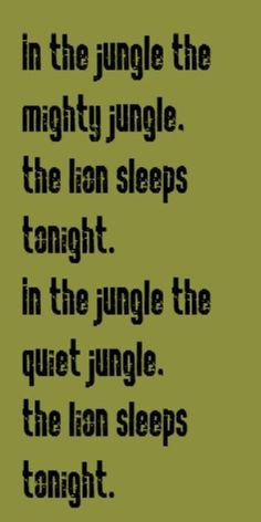 ... jungle) (F- the mighty jungle) (C-the lion sleeps to) (G7- night