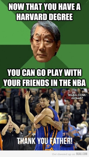 What are all the Asian dad memes about Jeremy Lin?