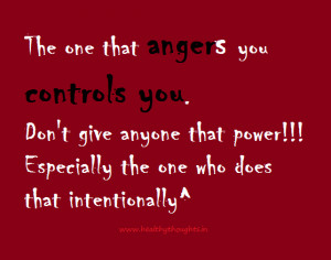 Don't Give Anyone The Power To Control You