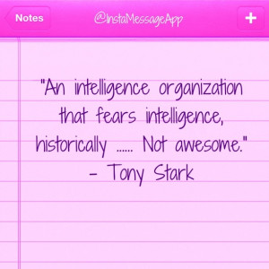 Quote from The Avengers by Tony Stark