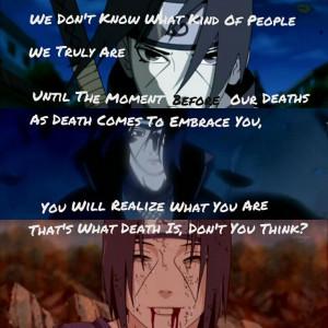 Naruto- Uchiha Itachi quote