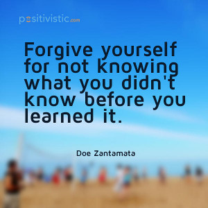 quote on forgiving yourself: doe zantamata forgive learning quote hope ...