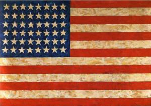 Jasper Johns 'Flag' Painting