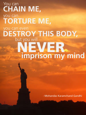 Quote: Gandhi on freedom of the mind