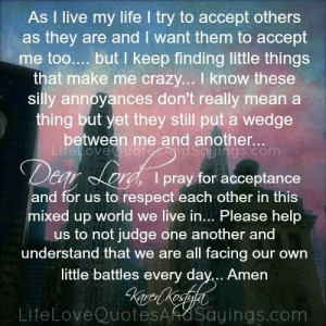 As I Live My Life ..
