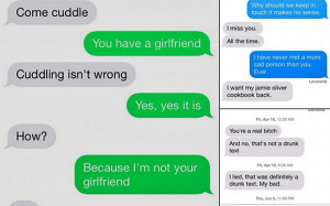 ... your ex' is a new Instagram account Photo: TEXTSFROMYOUREX/INSTAGRAM
