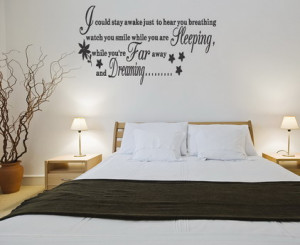 Quotes and Sayings Removable Wall Stickers Decals for Bedroom Wall ...