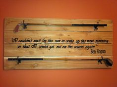 Golf Club Display with Customizable Golf Quote, Golfer Quotes ...