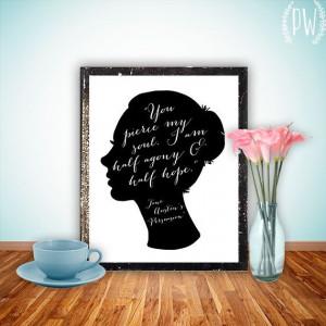 Jane Austen printable quote print art wall art by PrintableWisdom, $5 ...
