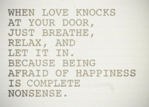 let it in love quote love photo love image when love knocks at your ...