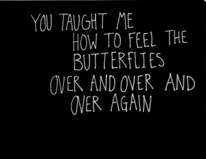 You taught me how to feel the butterflies over and over and over again ...