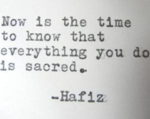 HAFIZ quote sacred quote happy quote inspirational quote spiritual ...