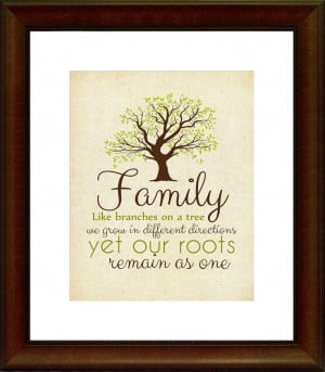 Family Quote Printable, Home Decor, Family Roots, 8x10 Printable, 5x7 ...