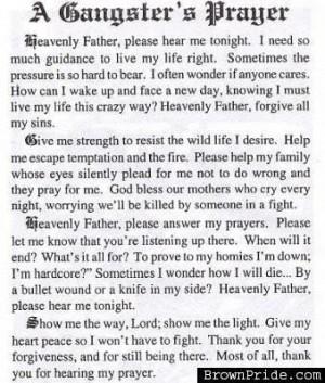 Gangsters Prayer