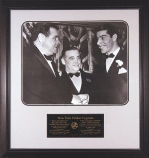 Babe Ruth and Joe DiMaggio New York Yankees Framed 16x20 Unsigned ...