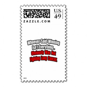 Lung Cancer Quote Postage