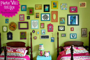 Photo Wall Collage with Krylon Spray Paint
