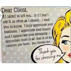 Lovely post by Lily Nails & Beauty thanking their clients for thinking ...