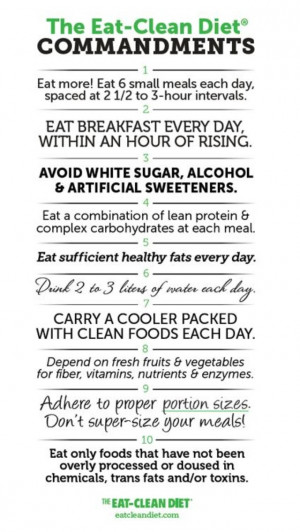 Commandments of clean eating