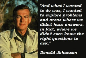 Donald johanson famous quotes 1