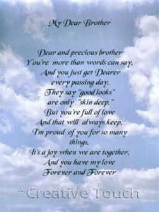 Dear Brother in Heaven Poem | Poem Personalized Print My Dear Brother ...