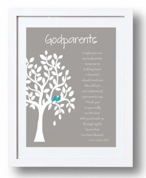 GODPARENTS personalized gift - Custom Gift for Godparents on Baptism ...