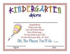 Kindergarten Certificate More