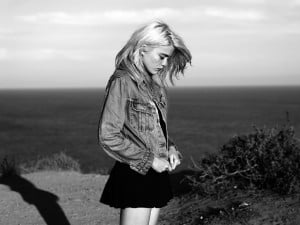 Sky Ferreira by Hedi Slimane via his diary .