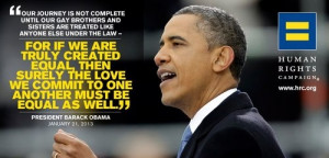 President Obama - Inauguration Speech - this part of his speech ...