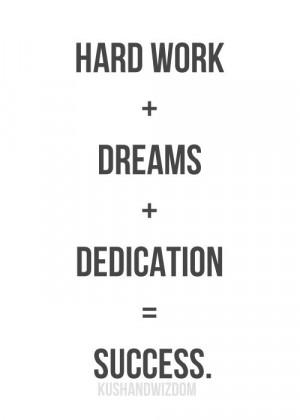 hard work = success