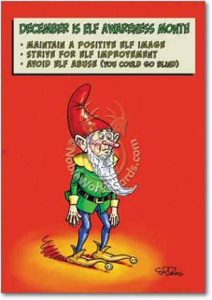 Elf Awareness Humorous Christmas Card
