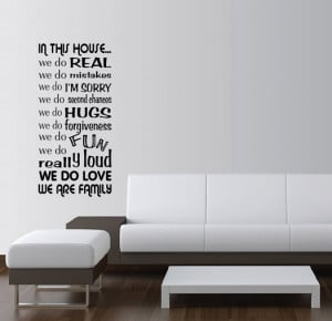 Details about IN THIS HOUSE WE DO Vinyl Wall Word Art Quotes Sayings ...