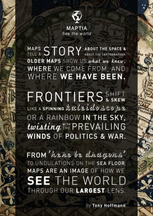 Earth-moving quote from Tony Hoffmann, cartographic/typographic ...