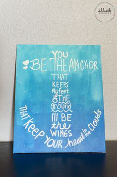 anchor quote ombre canvas painting from ellie k studios more canvas ...
