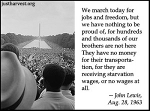 ... at Reflecting Pool, 1963 Great March on Washington, John Lewis quote