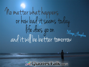 No matter what happens