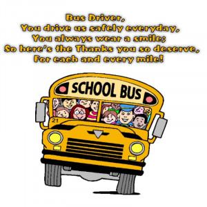 School Bus Driver Appreciation Poem
