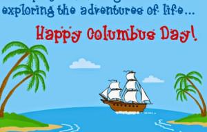 Printable Columbus Day 2014 Cards Free Download***