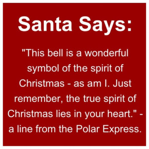 Quote from Polar Express