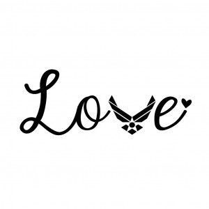 Home » Decal » Love Air Force Decal