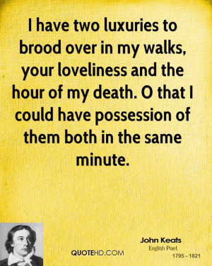 John Keats Death Quotes