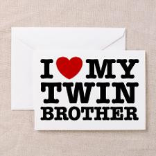 Love My Twin Brother Greeting Cards (Pk of 10) for