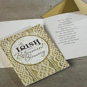 Irish Retirement Blessing Card - Full Color
